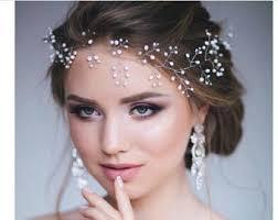 pearl headpiece etsy