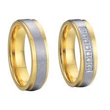titanium wedding ring sets 2017 fashion jewelry gold color anillo aneis titanium wedding