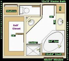 Bathroom And Closet Floor Plans  PlansFree X Master - Bathroom with walk in closet designs