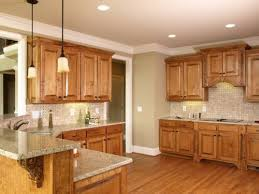 kitchen paint ideas with oak cabinets this kitchen has the wood floor and wood cabinets it s