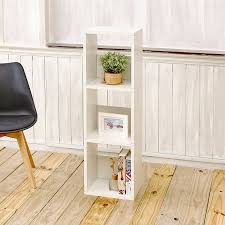 amazon com way basics eco 3 shelf trio narrow bookcase and