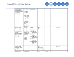Water Challenge Steps Strategy Brief
