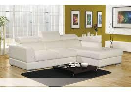canapé d angle cuire canapé d angle cuir pu avec têtières lena blanc noir chocolat