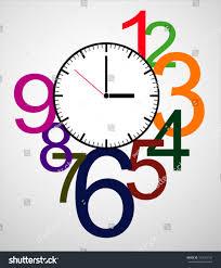 Clock Design Creative Clock Design Colorful Stock Vector 153074126 Shutterstock