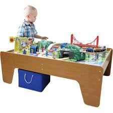 imaginarium train table 100 pieces 100 piece mountain train set and wooden activity table walmart com
