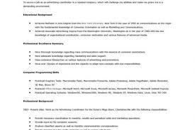 Advertising Sales Resume Examples sample resumes advertising director resume or sales resume