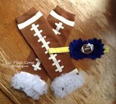 michigan football set legwarmers with headband football