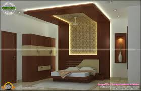 interior bed room living room dining kitchen kerala home