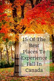 best places to travel over thanksgiving fall in canada 15 of the best places to experience autumn