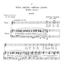 Selve Selve Amiche Medium Voice In A Minor For Soprano High Soprano