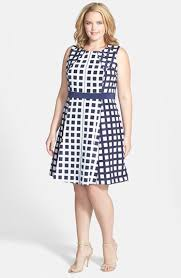 jessica simpson sleeveless fit u0026 flare dress plus size