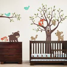 tree with forest friends wall decal tree with forest friends wall decal woodland friends animal wall decal