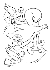 and birds coloring pages for kids printable free casper cartoon