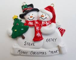 personalized engagement ornament engaged couple ornament