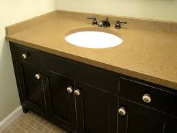 Black Distressed Bathroom Vanity Custom Vanity In Distressed Black Lacquer Finish With Concrete