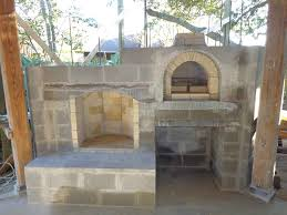 Pizza Oven Fireplace Combo by Brickwood Ovens Hammer Family Wood Fired Pizza Oven And