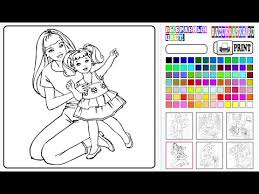 barbie coloring games free