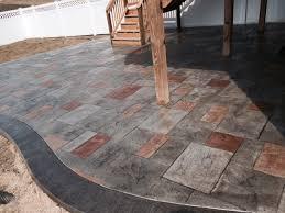 Patio Concrete Tiles Multi Color Stamped Concrete Patio Outdoor Ideas Pinterest