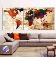 large canvas world collage map wall art wrapped canvas canvases