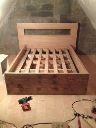 Pallet Bed Frame Plans Bed Frames Diy Pallet Bed Frame Instructions Diy Pallet Bed