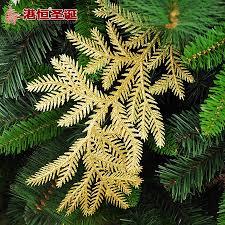 gold u0026 silver 30cm glitter adornment leaf christmas tree