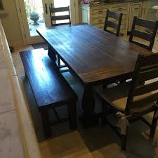 Java Bench Find More Rustic Java Greyson Fixed Dining Table W 4 Wood Garner