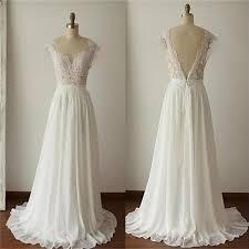 simple lace wedding dresses 2018 simple a line v back lace wedding dresses chiffon