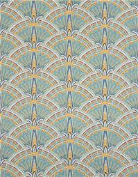 blue ornament directional pattern metallic fabric robert kaufman