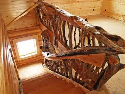 log stairs stair rails wood railing deck railing ideas