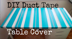 Plastic Desk Cover Protector Diy Duct Tape Table Cover Recycle Your Old Table Top Youtube