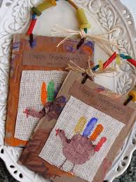 handprint turkey on burlap 14 thanksgiving arts and crafts