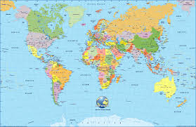 world map with country names and latitude and longitude world map free large images