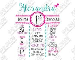 girl birthday girl birthday board template svg cut file set for cricut and