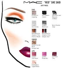 mac makeup face charts