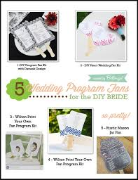 fan wedding program kits diy fan program kit wedding tips and inspiration