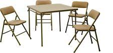 cosco products 5 piece folding table and chair set black cosco products 5 piece folding table and chair set tan 34 inch