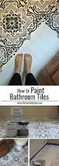 Paint Bathroom Tile by Best 20 Painting Tile Floors Ideas On Pinterest Painting Tile