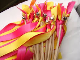 ribbon sticks roto 50pcs wedding 3 color ribbon wands wedding