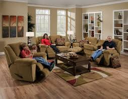 living room brown microfiber reclining sofa and loveseat also
