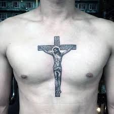good looking cross tattoos designs for chest good tattoo design