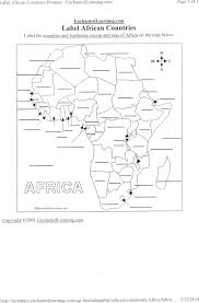 Unlabeled Map Of Africa by Bayes