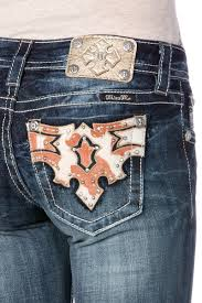 saddle up cowhide boot cut jeans miss me