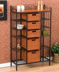 Small Bakers Rack With Drawers Metal Bakers Rack With Storage Foter