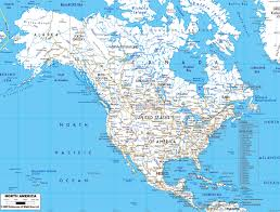Map Of The United States With Major Cities by Maps Of North America And North American Countries Political