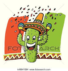 cartoon cinco de mayo clipart of cactus mexico comic cinco de mayo k48641084 search clip