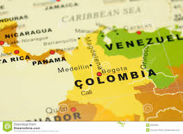 Map Of Columbia Colombia On Map Royalty Free Stock Images Image 6838499