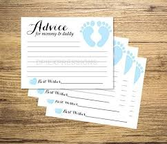 to be cards baby shower advice cards set of 20 blue baby
