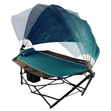 kijaro portable hammock with canopy and cooler the green head