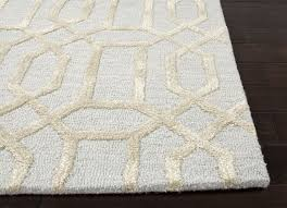 Modern Wool Rugs Rugs Modern Wool 8x8 Rug With Beige And White Color