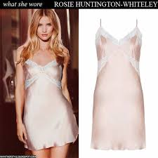light pink silk dress what she wore rosie huntington whiteley in light pink silk and lace